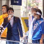 立川市議選で応援演説する玉木雄一郎共同代表