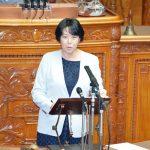 TPP11関連法案について質問する田名部匡代議員